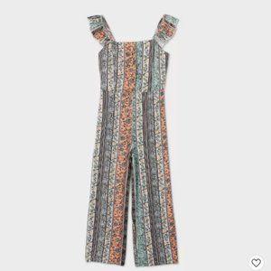 Girls' Button-Front Jumpsuit - art class™